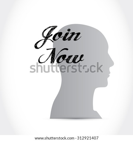 Join Now thinking sign concept illustration design graphic - stock photo