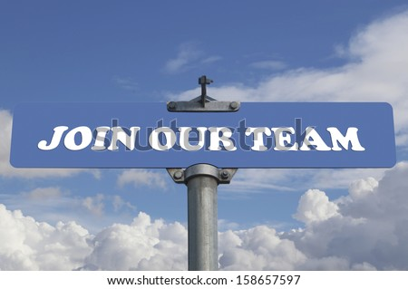 Join our team road sign - stock photo