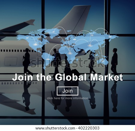 Join the Global Marketing Business Strategy Commerce Website Concept - stock photo