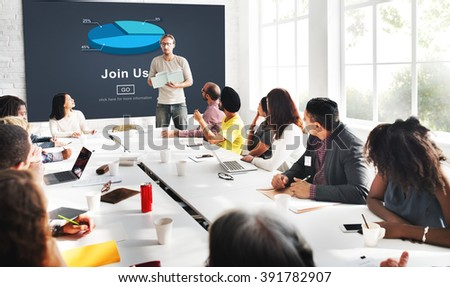 Join us Headhunting Company Hiring Concept - stock photo
