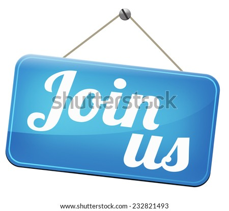 join us now online membership sign in here - stock photo