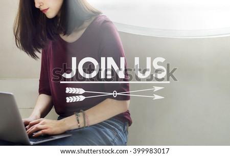 Join Us Recruitment Employment Hiring Concept - stock photo