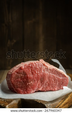 Joint of beef ready for cooking - stock photo