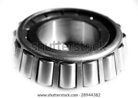 Jointed ball bearing isolated on white background - stock photo