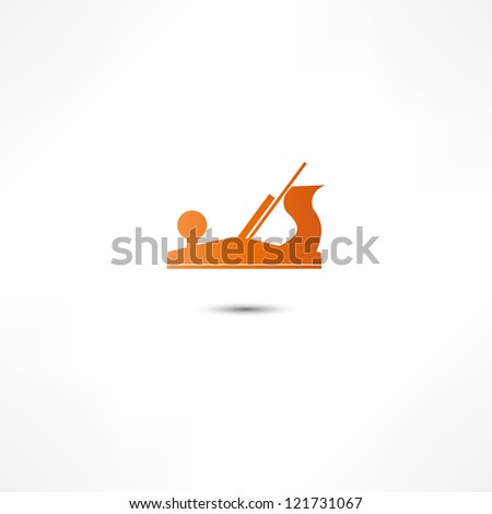 Jointer plane icon - stock photo