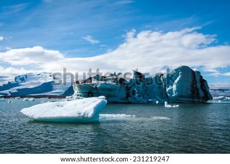 Jokulsarlon -  famous glacier lagoon in Iceland - stock photo
