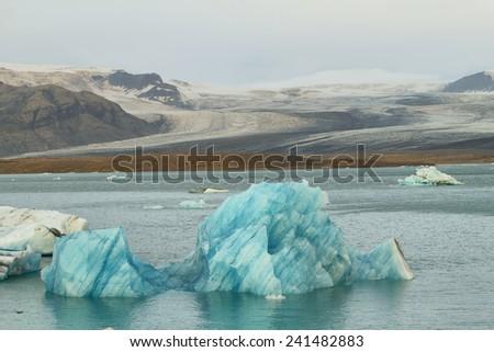Jokulsarlon Glacial Lagoon of Vatnajokull glacier, Iceland - stock photo
