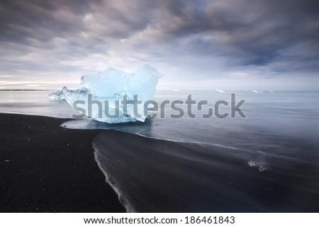 Jokulsarlon, Iceland / Iceberg - stock photo