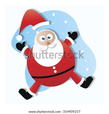 jolly old santa claus - stock photo
