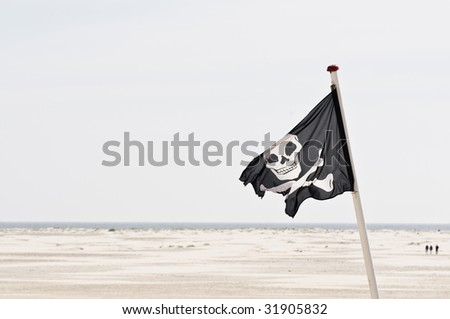 jolly roger - stock photo