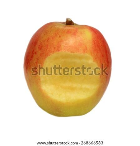 Jonagold apple isolated on white - stock photo
