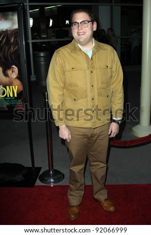 "Jonah Hill at the ""Ceremony"" Los Angeles Premiere, Arclight, Hollywood, CA. 03-22-11 - stock photo"