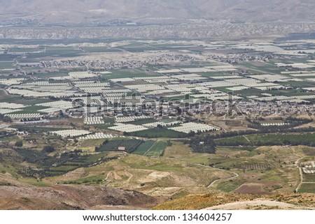 Jordan valley farms - stock photo