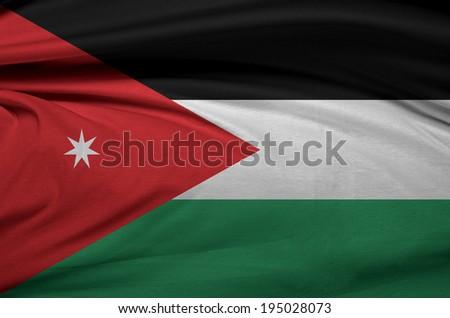 Jordan waving flag  - stock photo