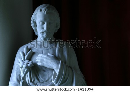 Joseph the Betrothed, front view - Patron saint of workers and families - stock photo