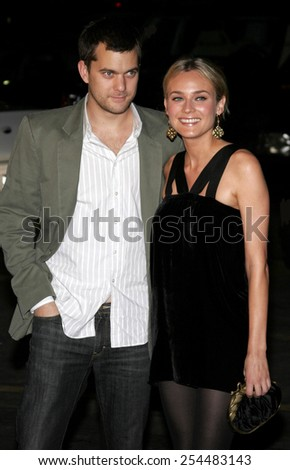 Joshua Jackson and Diane Kruger attend the Global Green USA Pre-Oscar Celebration to Benefit Global Warming held at the The Avalon in Hollywood, California on February 21, 2007.  - stock photo