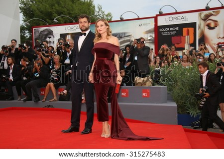 Joshua Jackson and Diane Kruger attend the premiere of the movie 'BLACK MASS' during the 72nd Venice Film Festival on September 4, 2015 in Venice, Italy. - stock photo
