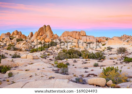 Joshua Tree National Park, Mojave Desert, California - stock photo