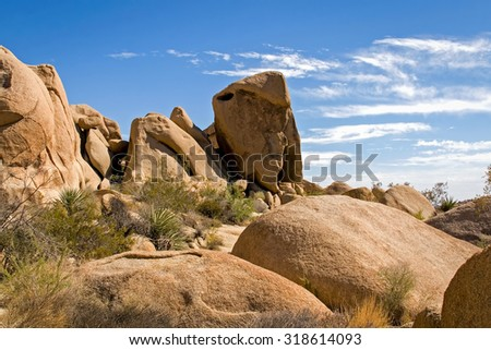 Joshua Tree National Park â?? Rock Formation  - stock photo