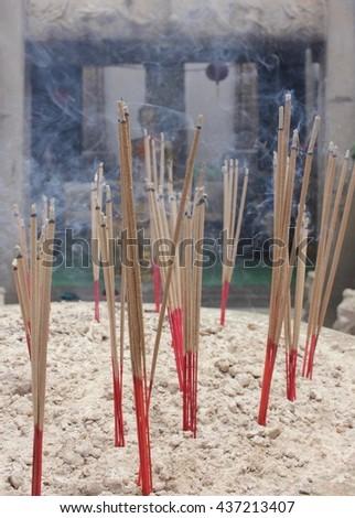 Joss stick, Buddhism - stock photo