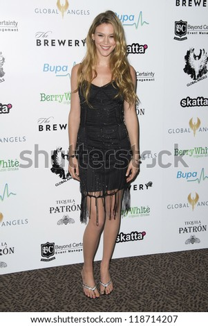 Joss Stone arriving for The Global Angels Awards 2012, The Brewery, London. 09/11/2012 Picture by: Simon Burchell - stock photo