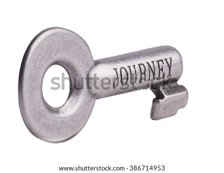 Journey Key - stock photo