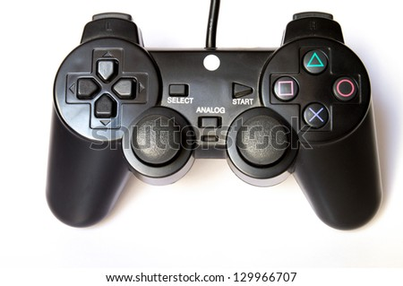 Joy sticks are usually used as computer game accesories. - stock photo
