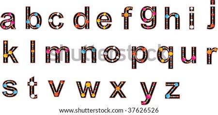 Joyful alphabet Compose any words using alphabet - stock photo