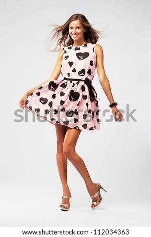 Joyful  beautiful  woman - stock photo