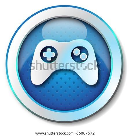 Joystick icon - stock photo