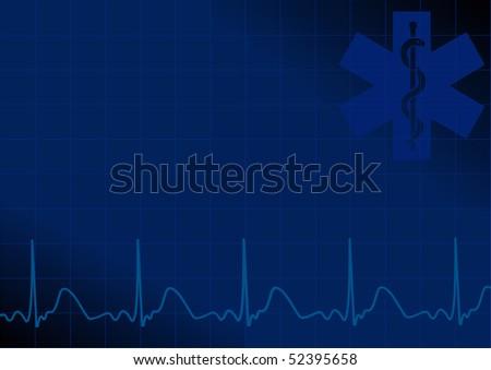 jpeg blue medical background - stock photo