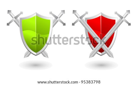 Jpeg illustration of shield, security concept - stock photo