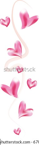 JPEG Valentines Heart Border - stock photo