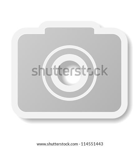 Jpeg version. camera icon on white background - stock photo