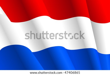 Jpeg version. Flag of Netherlands for design as a background or texture. Vector  version is also available - stock photo