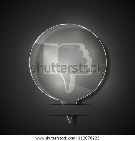 Jpeg version. glass unlike icon on gray background - stock photo