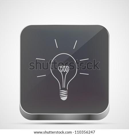 Jpeg version.  idea app icon - stock photo