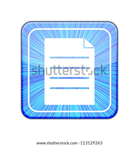 Jpeg version. Page icon - stock photo