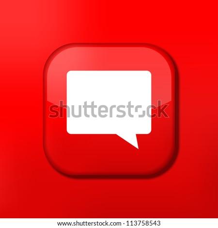 Jpeg version.  red Bubble speech icon. - stock photo