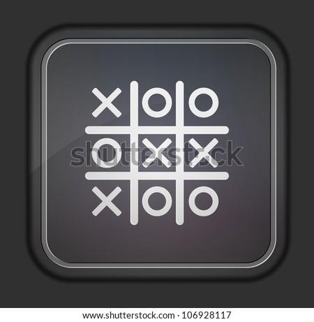 Jpeg version.  Tic tac toe icon - stock photo