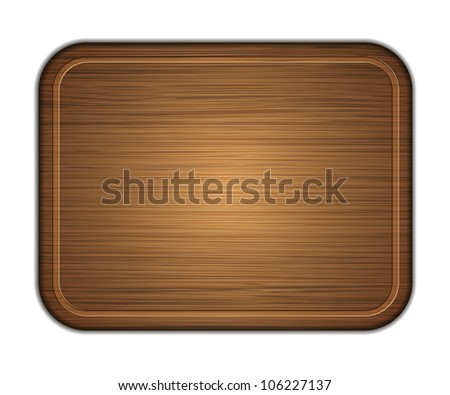 Jpeg version. wooden cutting board isolated on white background. - stock photo