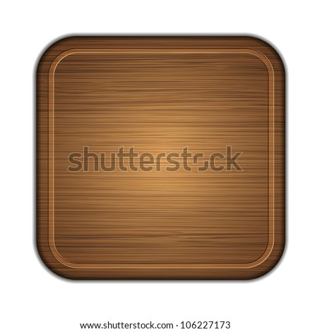 Jpeg version. wooden cutting board isolated on white background. illustration - stock photo