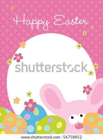Jpeg 8.5x11 Easter template - stock photo