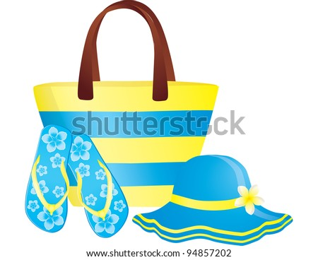 JPG Fashion summer accessories - stock photo