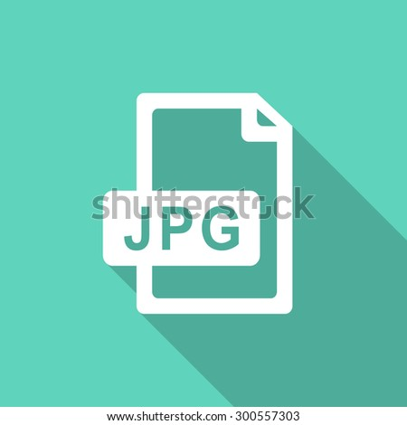 jpg file flat design modern icon with long shadow for web and mobile app   - stock photo