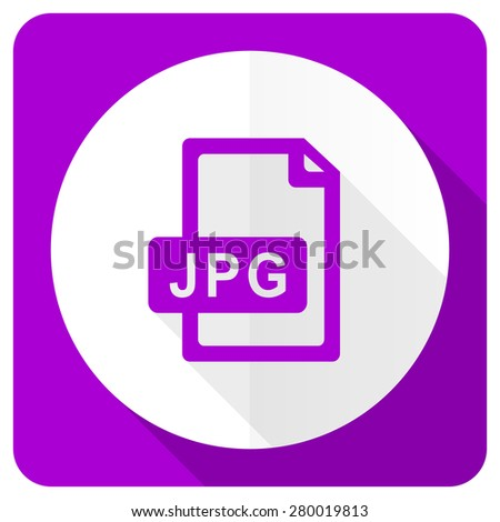 jpg file pink flat icon   - stock photo