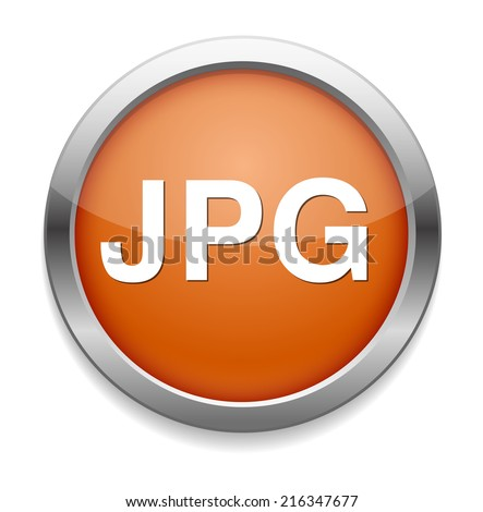 Jpg icon file - stock photo