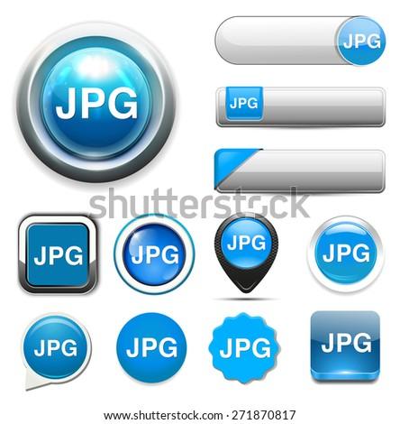 Jpg icon file - stock photo