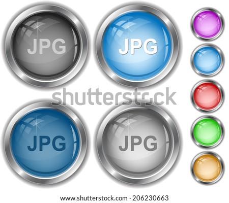 Jpg. Raster internet buttons.  - stock photo