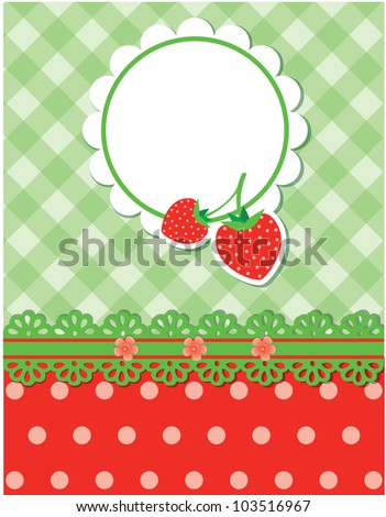 JPG Strawberry background - stock photo